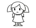生气的小女生简笔画图片