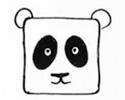 大熊猫简笔画一只熊猫三种画法
