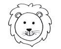 一只狮子3种形状简笔画的画法