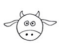 一只小奶牛3种简笔画的画法