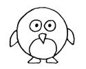一只小企鹅的3种简笔画画法