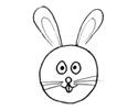 小兔子的三种形状简笔画