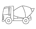 混凝土搅拌车儿童简笔画
