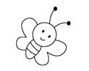 小蜜蜂简笔画的画法步骤