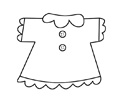 小女生衣服简笔画的绘画步骤