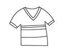 短袖T恤简笔画步骤图片