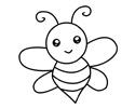 一只可爱的小蜜蜂简笔画