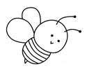 卡通小蜜蜂简笔画图片