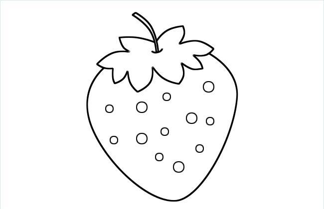 草莓简笔画图片