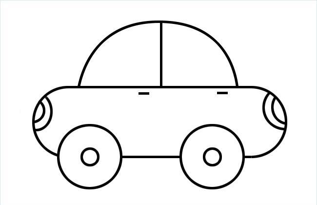 非常简单的小汽车简笔画包含步骤