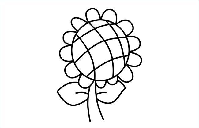 向日葵简笔画步骤画法