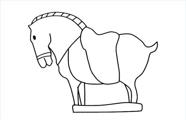 马的雕塑简笔画图片