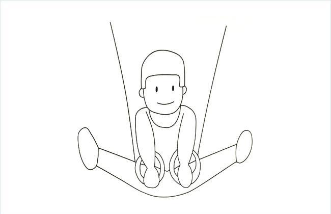 运动员吊环简笔画图片