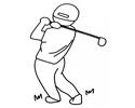 打高尔夫球的人简笔画图片