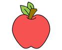 红苹果简笔画彩色图片