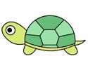 爬行的小乌龟简笔画图片