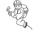 登山爱好者正在登山简笔画图片