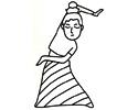 跳民族舞蹈的简笔画图片