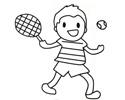 小朋友打网球的简笔画图片