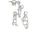 三个小男孩在打篮球的简笔画图片