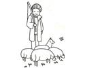 放羊人简笔画图片