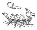 赛龙舟简笔画图片