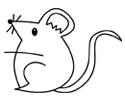 鼠年老鼠简笔画图片