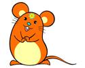 鼠年吉祥鼠拜年简笔画图片