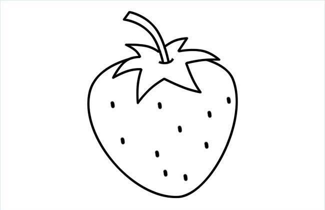美味的香甜草莓简笔画图片