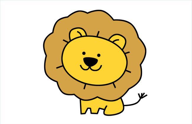 可爱的小狮子简笔画图片