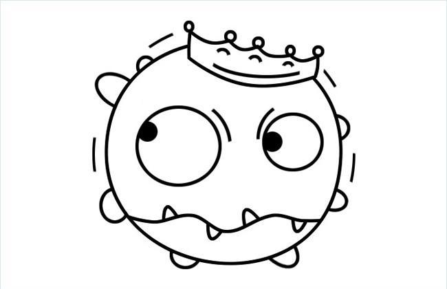新型冠状病毒简笔画图片